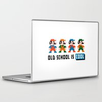 mario Laptop & iPad Skins featuring Mario by PixelPower