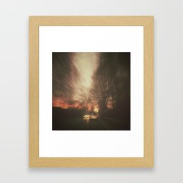 Speed Framed Art Print