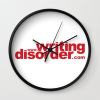writing Wall Clocks featuring Writing Disorder by writingdisorder