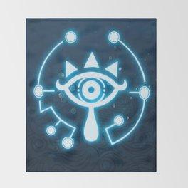 The blue eye Throw Blanket