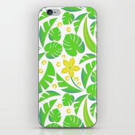PERROQUET FLOWERS iPhone Skin