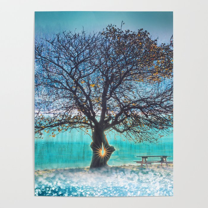 Everlasting Tree, Home Decor, Scenic Wall Art, Printable Artwork, Digital  Print, Frozen Lake, Winter Poster by pinkaslee