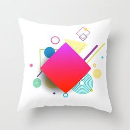 Displaced Geometry Throw Pillow