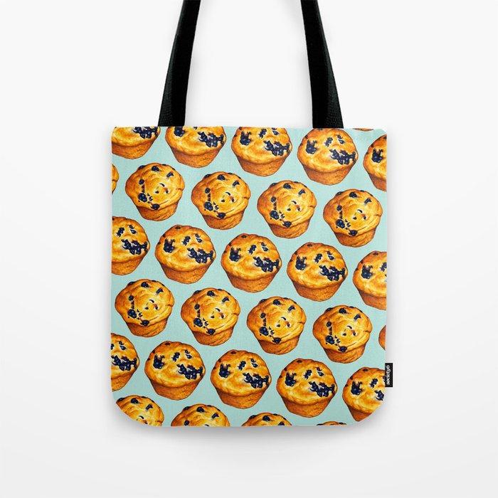 b3397f4b81a8 Blueberry Muffin Pattern Tote Bag by kellygilleran