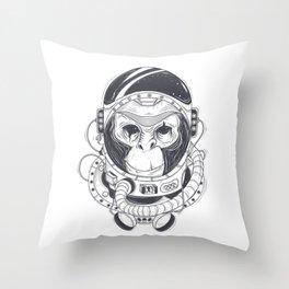 Astronaut Monkey Throw Pillow