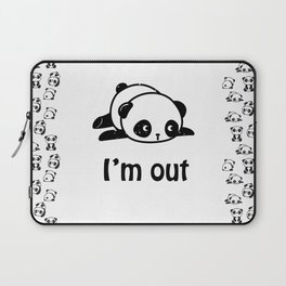 I'm out – Cute panda design Laptop Sleeve