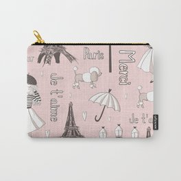 Paris Girl - Pink Carry-All Pouch