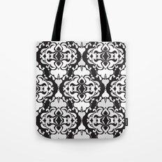 Lace Damask Tote Bag