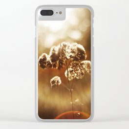 Autumnal Glow Clear iPhone Case