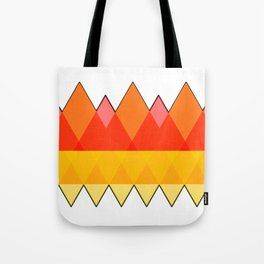 Abstract Autumn Triangles Tote Bag
