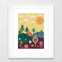 sunshine Framed Art Prints featuring Sunshine by Kakel