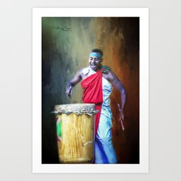 Let There Be Drums Art Print