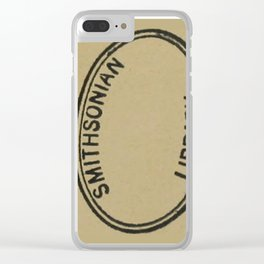 Smithsonian library stamp Clear iPhone Case