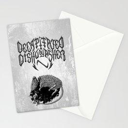 Decapitated by dishwasher I (white) Stationery Cards