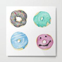 Watercolor donuts Metal Print