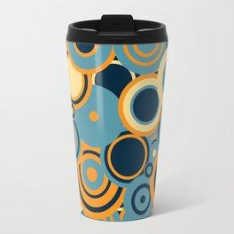circles-blue-orange-cream Travel Mug