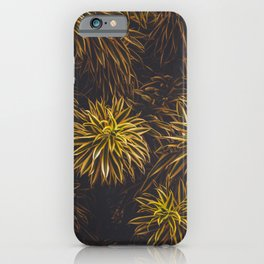 Green Leafs Texture iPhone Case