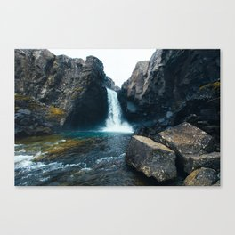 Unnamed Waterfall, Iceland Canvas Print