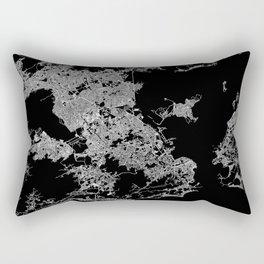 Rio map Brazil Rectangular Pillow