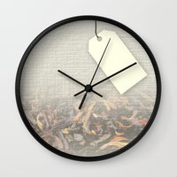 tote bag Wall Clocks featuring Personalizable Tea Tote Bag by Lydia Joy Palmer