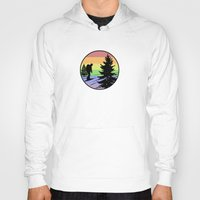 hiking Hoodies featuring Hiking by Paul Simms