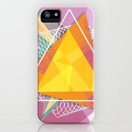 Tangled triangles iPhone Case