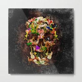 Floral Flower animal skull kingdom Metal Print