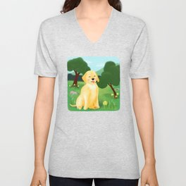A Golden Day Unisex V-Neck