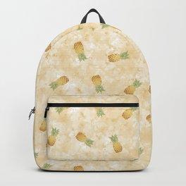 Golden Watercolor Pineapple Backpack