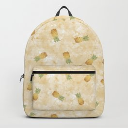 Golden Watercolor Pineapple Backpack