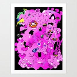 Mucus Monster Art Print
