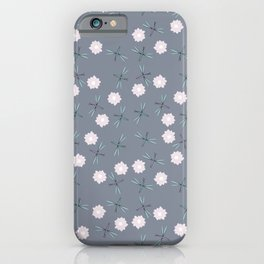 Dragonflies and lillypads iPhone Case