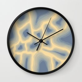 Blue Glowing Coals Abstract Pattern Wall Clock