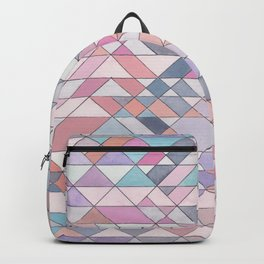 Triangle Pattern no.25 Light Pink Backpack