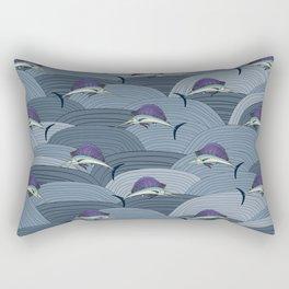 Swordfish Espadon | Pattern Art Rectangular Pillow