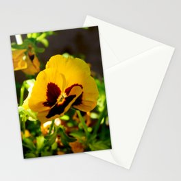 Yellow pansy garden Stationery Cards