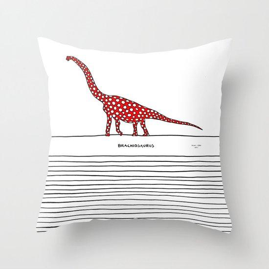 brachiosaurus Throw Pillow