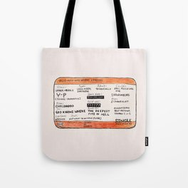 Life Crisis in a Train Ticket Tote Bag