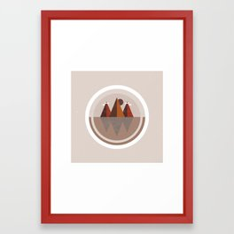 Deep Rooted Mountains Framed Art Print