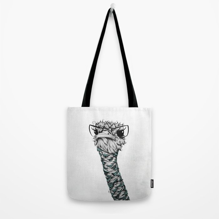 Poetic Ostrich Tote Bag