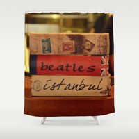 book Shower Curtains featuring book by gzm_guvenc