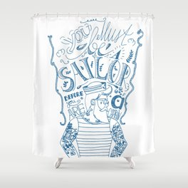 Hipster Sailor Shower Curtain