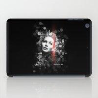 jennifer lawrence iPad Cases featuring Jennifer Lawrence III by Rene Alberto