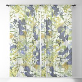 abstract floral pattern Sheer Curtain