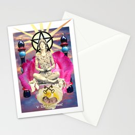 The Hierophant - Blood Bread and Roses Tarot Stationery Cards