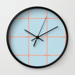 light blue open weave Wall Clock