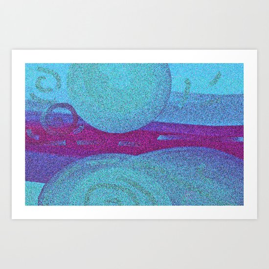 Blue Wheels Art Print