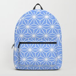 Cold Blue Geometric Flowers and Florals Isosceles Triangle Backpack
