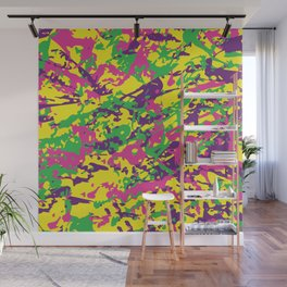 Bright Urban Camouflage Wall Mural