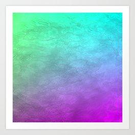 Aqua Sunset Art Print